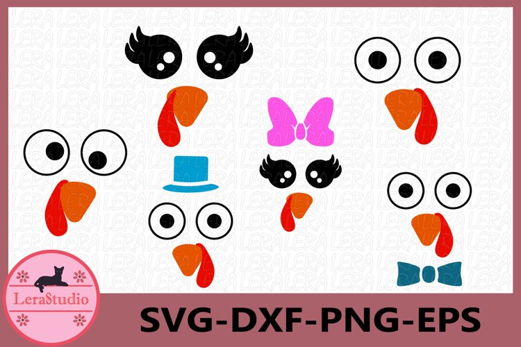 Turkey SVG, Turkey Face SVG, Thanksgiving svg,Turkey Clipart example image 1