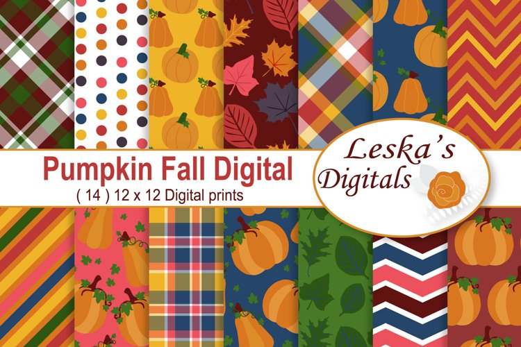 Pumpkin Digital Paper example image 1