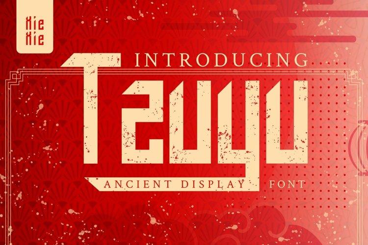 Web Font Tzuyu - Display Font example image 1