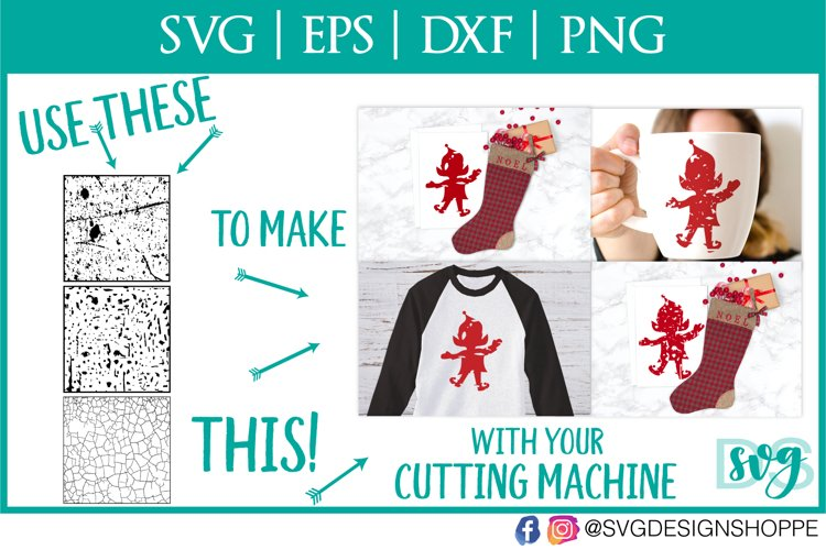 Grunge, Distressed, Texture for Cutting Machines - Free Design of The Week Design0