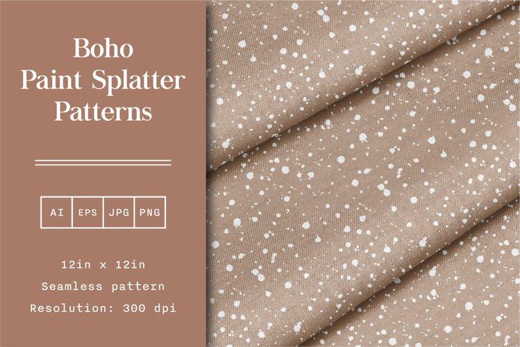 Boho Paint Splatter Patterns