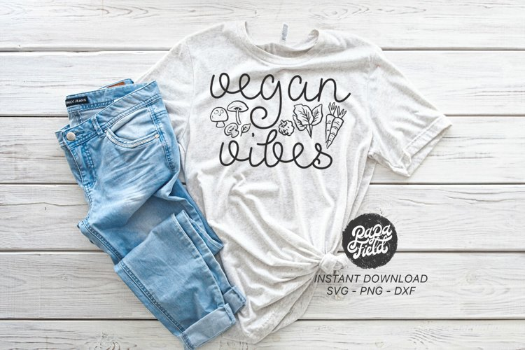 Vegan Vibes SVG PNG DXF example image 1