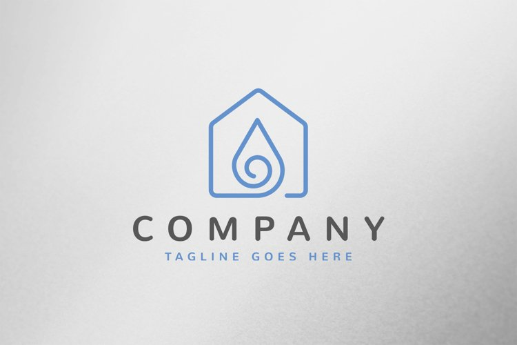 Drop House Logo Template