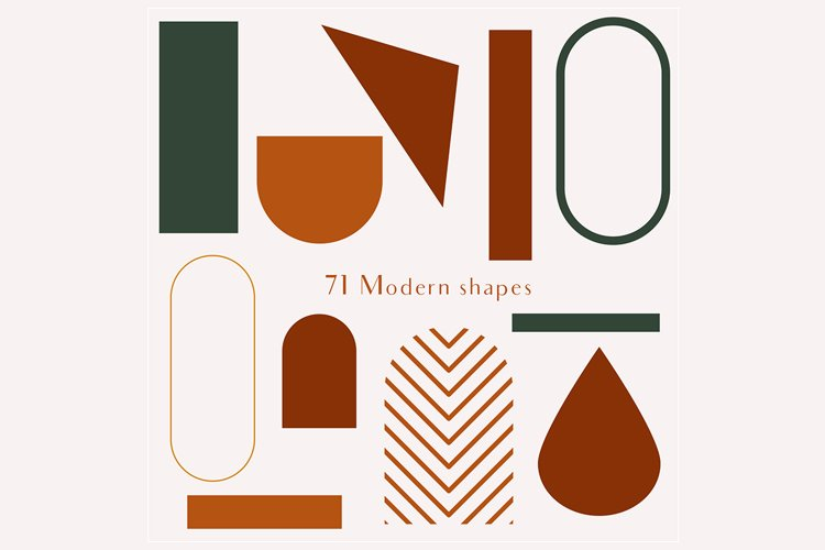 71 Modern shapes clipart illustrations example 6