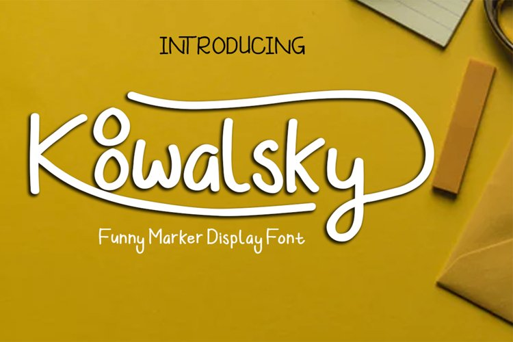Koowalsky | A Playful Handwritten Font example image 1