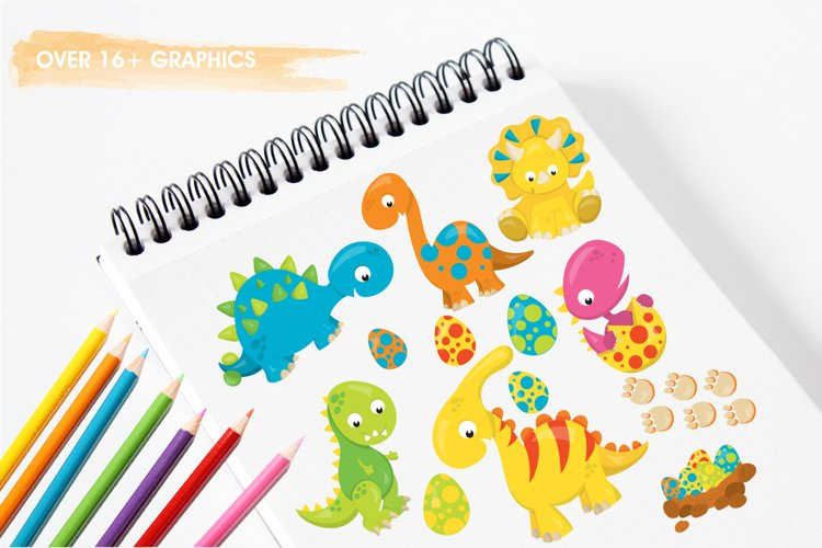 Dinosaur Babies graphics and illustrations - Free Design of The Week Design1