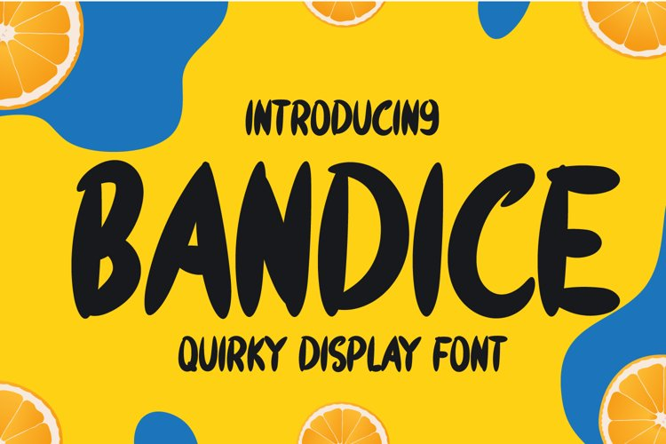 Bandice - Quirky Display Font example image 1