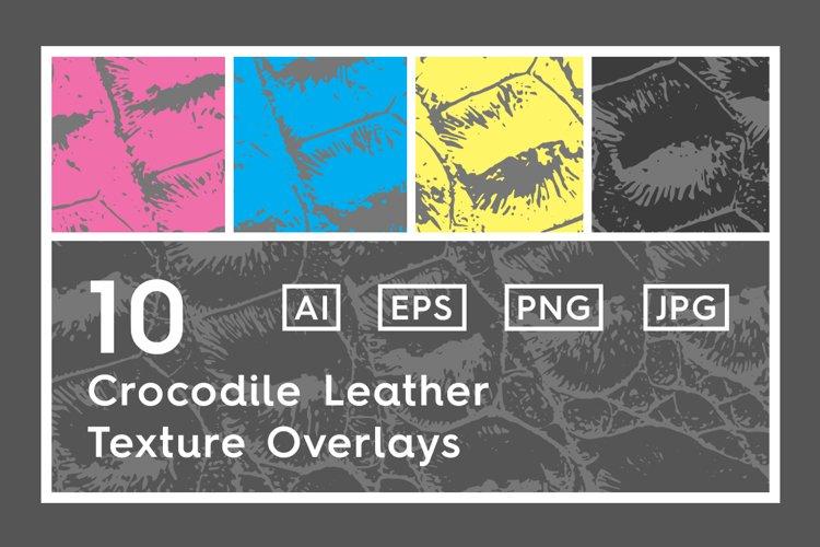 10 Crocodile Leather Texture Overlay example image 1