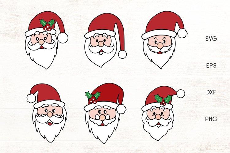 Santa Face SVG - Christmas Santa Face Cliparts example image 1