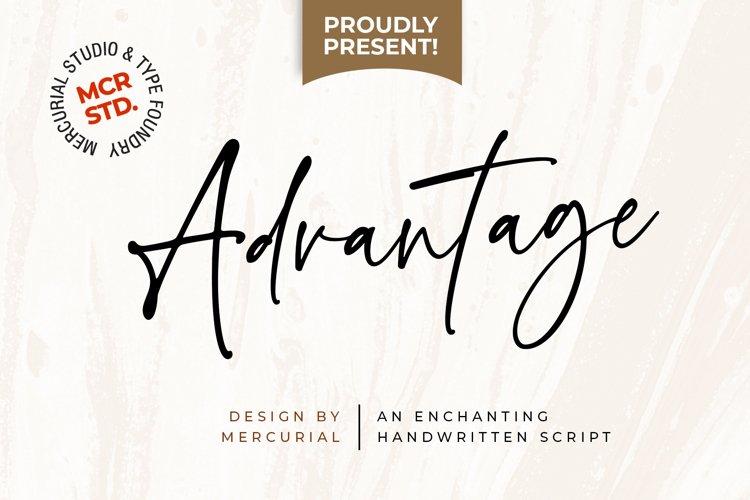Advantage // Handwritten script example image 1