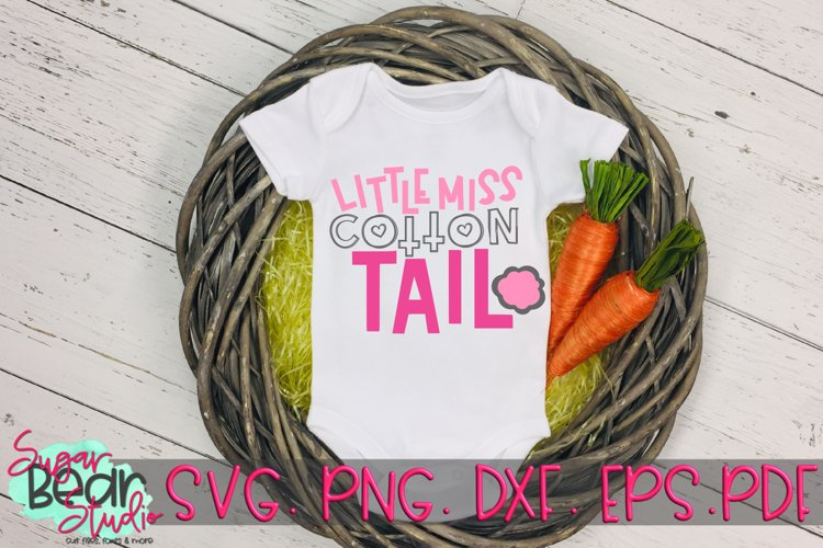 Little Miss Cotton Tail - An Easter SVG example image 1