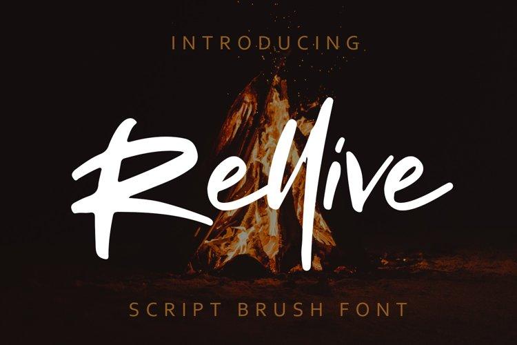Rellive Brush Script Font example image 1