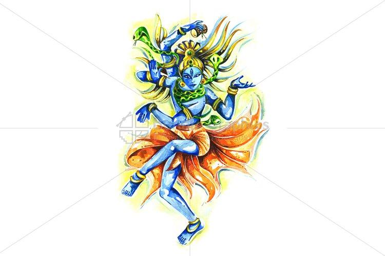 Lord Shiv as Nataraja - Abstract Painting example image 1