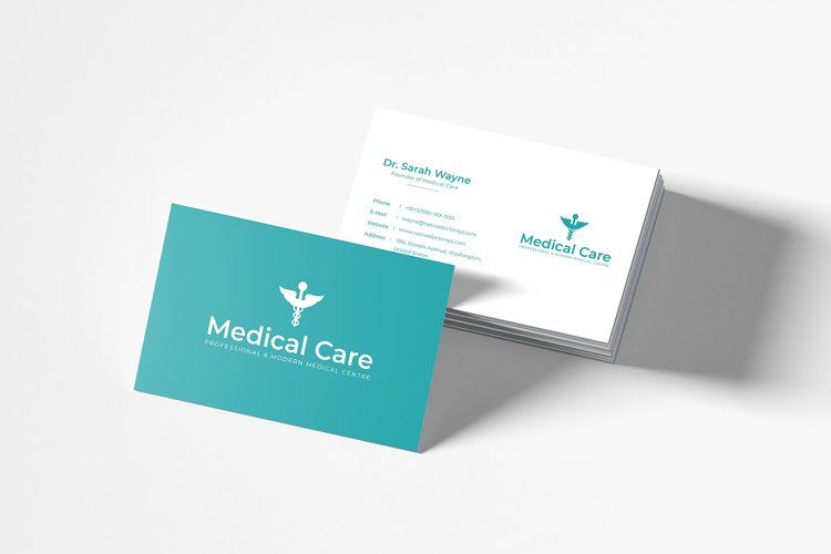Medical Minimal Business Card Template example image 1
