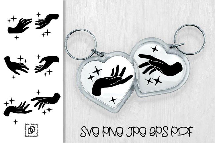 Keychain SVG Bundle Heart Keychain SVG Hand Sign Keychain