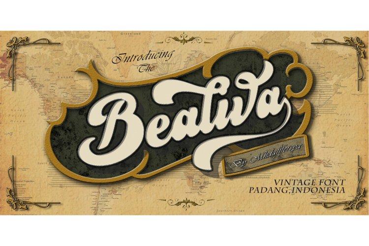Bealiva Font example image 1