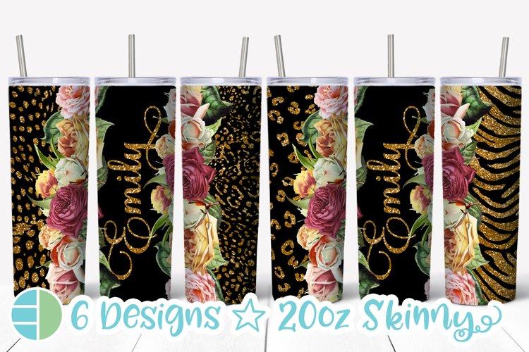 Flower Rose Skinny Tumbler Sublimation Best Sellers Bundle