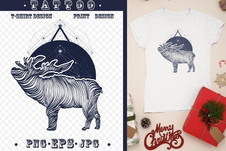 Deer tattoo example image 1