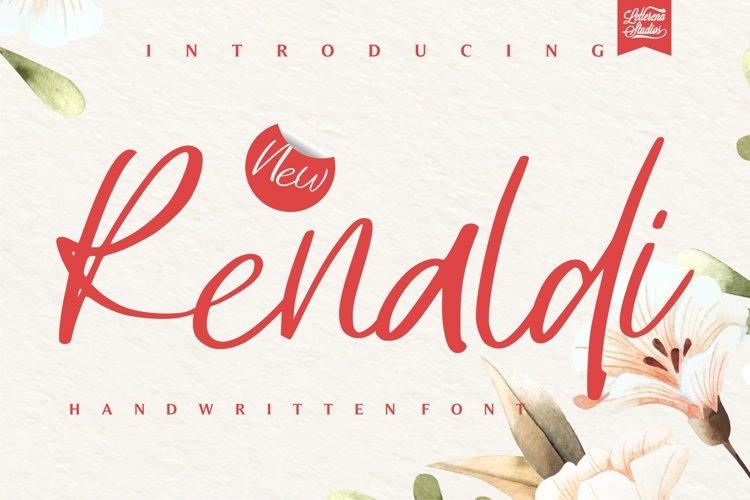 Renaldi - Luxury Script Font example image 1