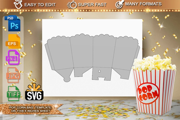 Pop Corn Box Template example image 1