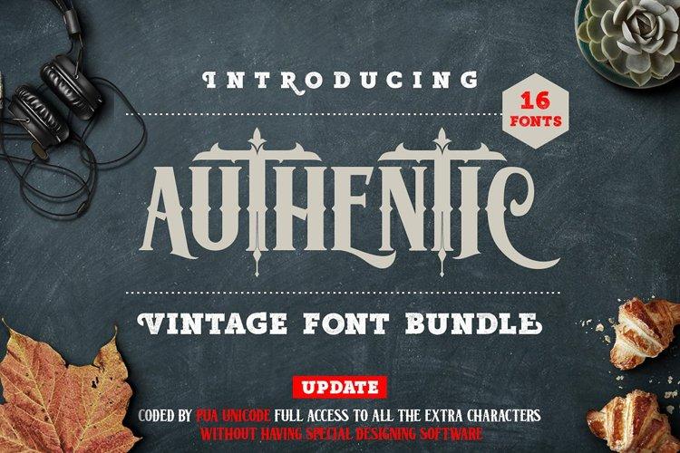 Authentic Vintage Font Bundle example image 1