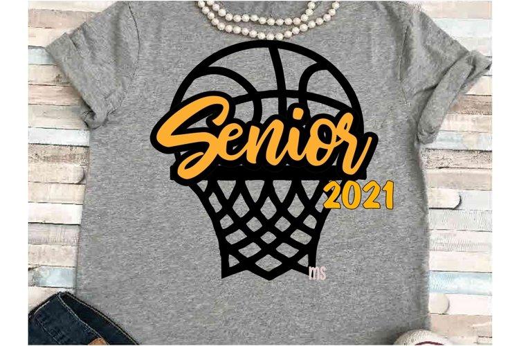 Basketball SVG DXF JPEG Silhouette Cameo Cricut Senior ball example image 1