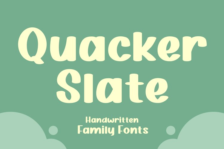 Quacker Slate Family Fonts example image 1