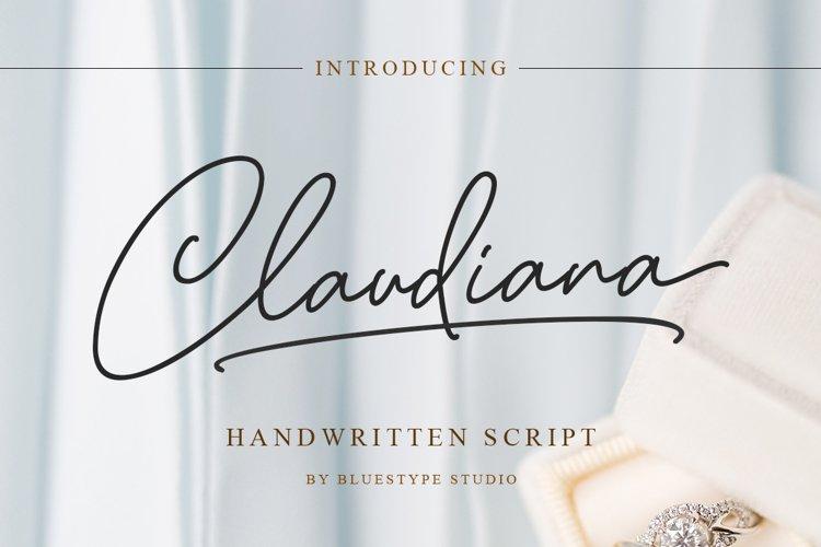 Claudiana - Beauty Handwritten Font example image 1