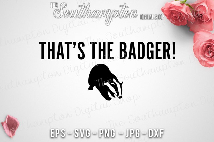 That's The Badger! example image 1