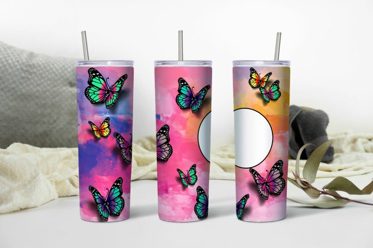 Butterfly Sublimation Design Personalized for Skinny Tumbler