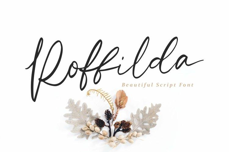 Web Font Roffilda - Script Font example image 1