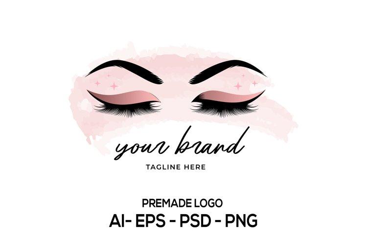 Lash Logo Design, Beauty Logo, Eyelash Logo, Lash Technician example image 1