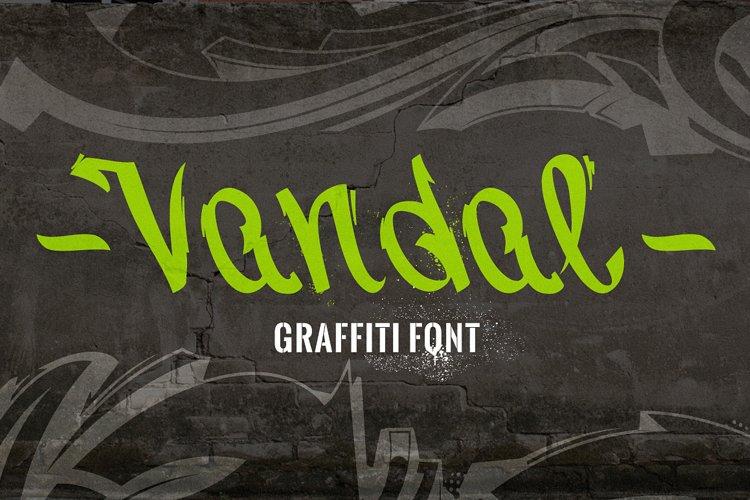 Vandal   Graffiti Font
