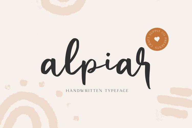 Alpiar - Handwritten Typeface example image 1