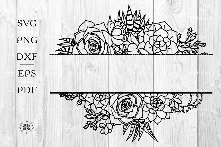 Download Succulent Borders Svg Split Cactus Frame Floral Borders 1169243 Decorations Design Bundles