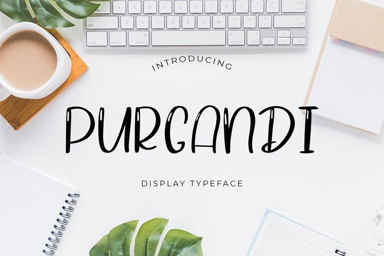 Purgandi Display Font example image 1