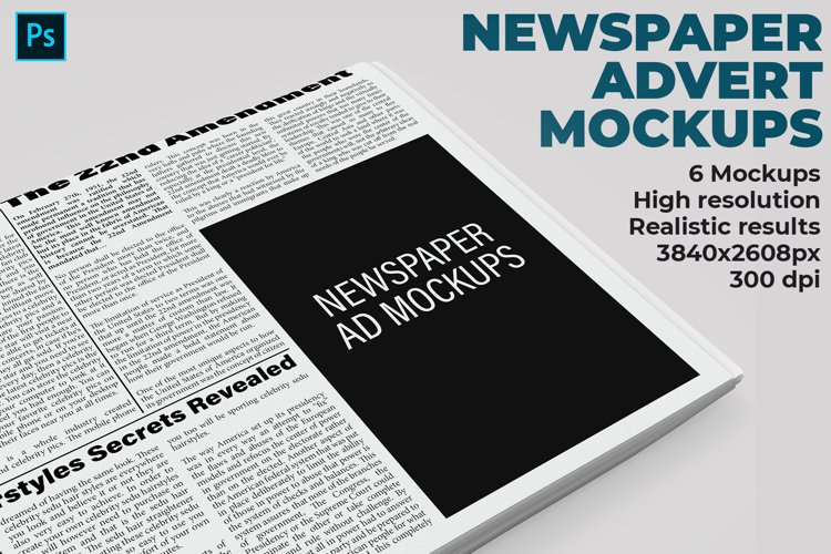 Newspaper Advert Mockups example image 1