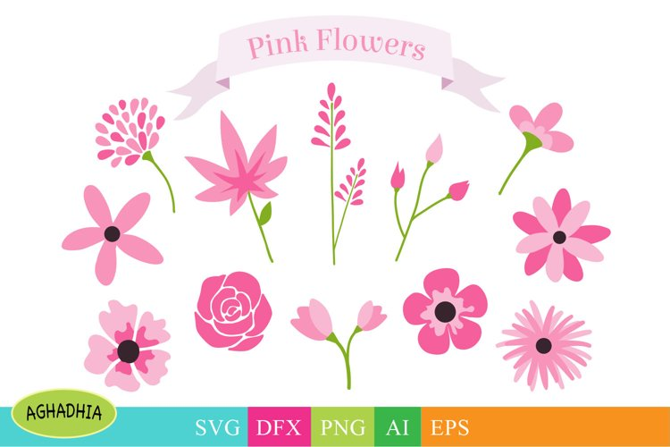Flowers SVG, Flower Bundle, Floral Element SVG. example image 1