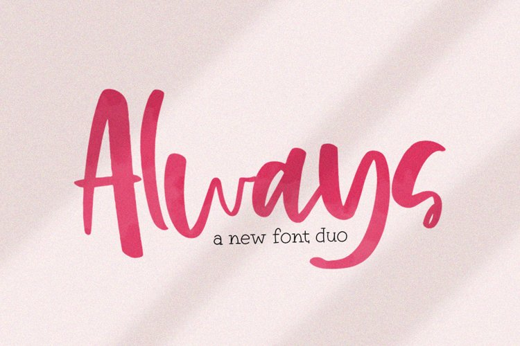 Always Font Duo example image 1