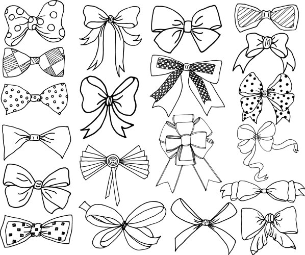 Bow clip art and Vector files example image 1