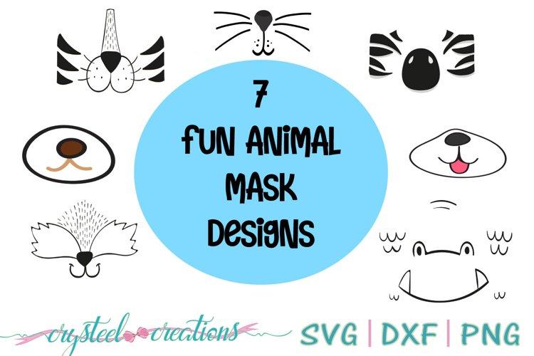 Animal masks for corona virus SVG, PNG, DXF example image 1