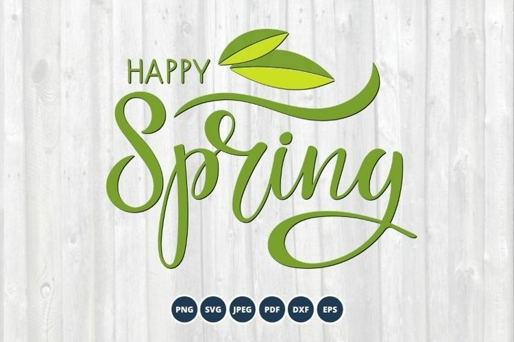Happy Spring SVG Cut File. Spring sign svg.