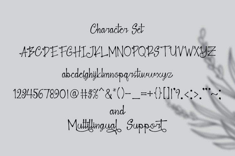 Blank Note - Ink Handwritten Font example 1