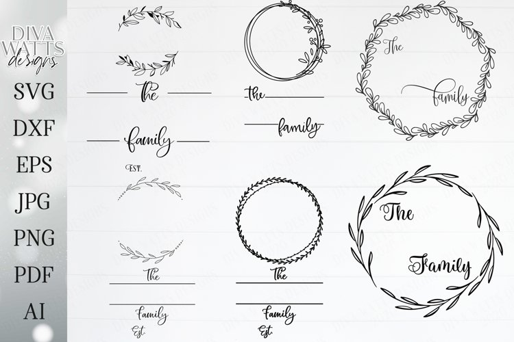 Family Monogram / Last Name Bundle - Sign Makers SVG DXF Set example image 1