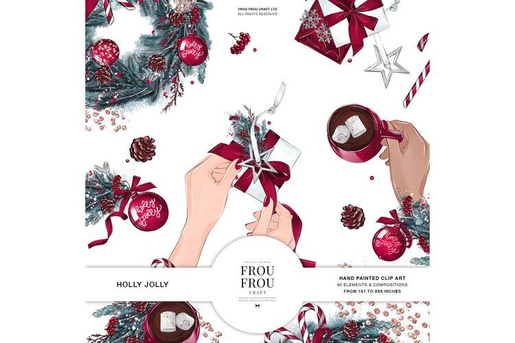 Christmas Tree Winter Present Gift Cozy Clip Art