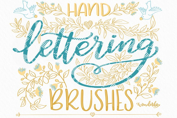 Procreate Lace Brushes Set for hand lettering