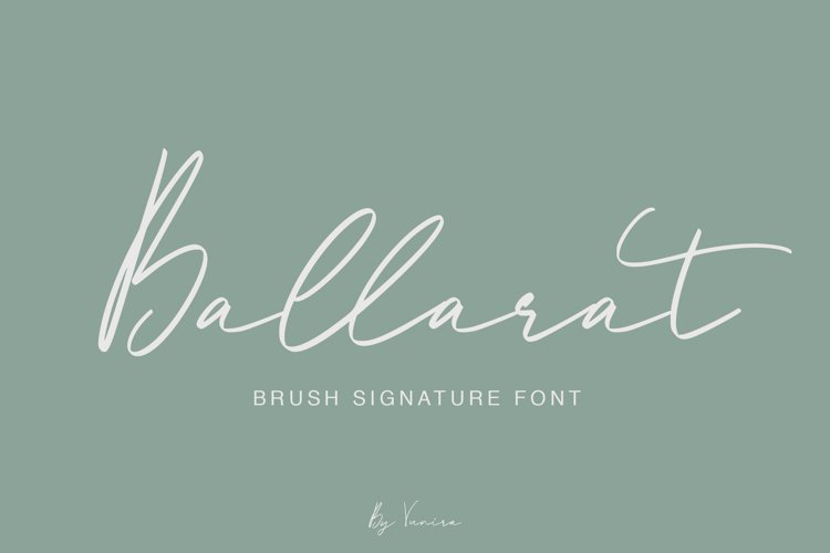 Ballarat   Brush Signature Font example image 1