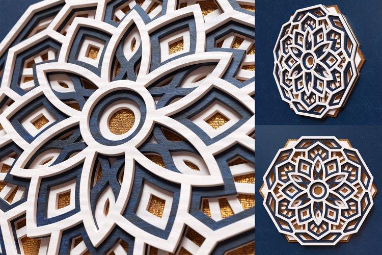 Mandala 3D Layered SVG Cut File - Laser Cutting example 2