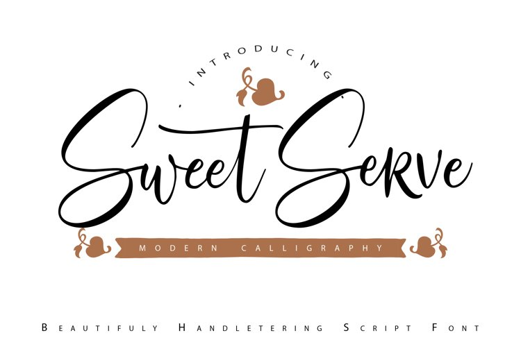 SweetServe | Modern Calligraphy Script Font example image 1