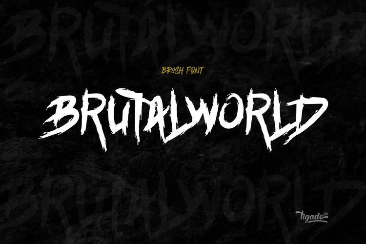 Brutalworld - Metal Grunge Font
